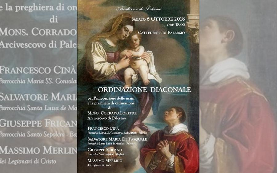 Ordinazione diaconale Massimo Merlino, LC