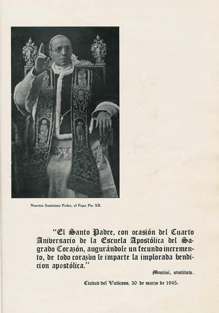 Benedizione di papa Pio XII, firmata da mons. Montini