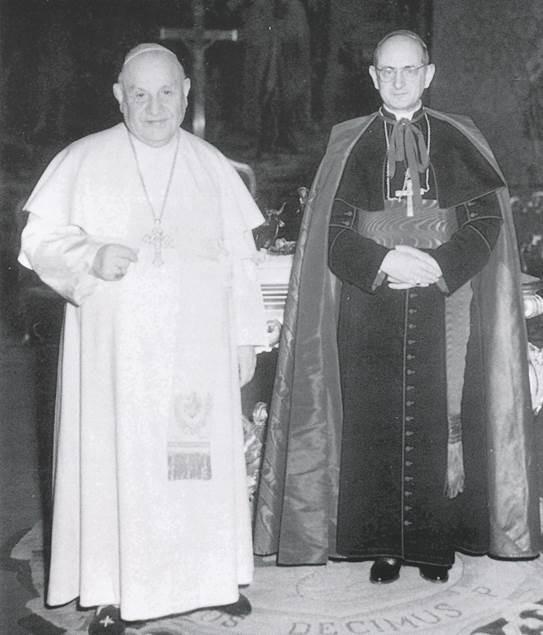 San Giovanni XXIII con mons. Montini